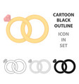 wedding rings icon of for web vector image