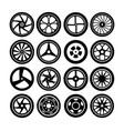 wheel tire symbol vector image