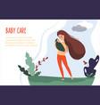 woman feeding her baby vector image vector image