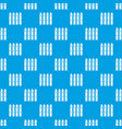 wooden fence pattern seamless blue vector image