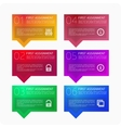 Multicolored pattern infographics vector image