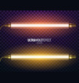ultraviolet light vector image