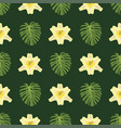tropical leaves summer green exotic seamless vector image
