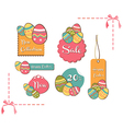 Easter eggs sales set background vector image