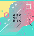 Abstract colorful geometric shapes and forms