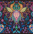 abstract flower lotus with psychedelic design vector image