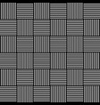 abstract monochrome background with lined squares vector image