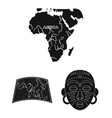 african safari black icons in set collection for vector image vector image