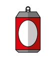 Aluminium can isolated icon vector image