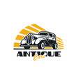 antique car logo design vector image vector image