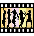 Attractive beautiful girls posing vector image vector image