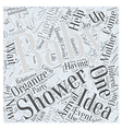 baby shower ideas Word Cloud Concept vector image vector image
