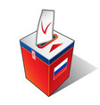 ballot box russia vector image