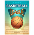 basketball tournament sports poster vector image vector image