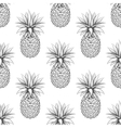 Black and white pineapple seamless pattern vector image