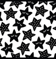 black and white seamless pattern with sleeping vector image