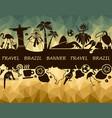 brazilian banner vector image vector image