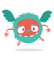 cartoon cute flying monster vector image vector image
