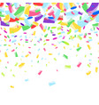 cheerful bright colorful festive confetti falling vector image vector image