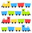 Childish cartoon colorful trains isolated on white vector image vector image