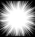 circular radial black white stipe in pop art style vector image