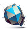 Colorful 3D abstract design object polygonal vector image vector image