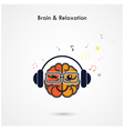 Creative left and right brain sign vector image vector image