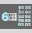 days left countdown timer label vector image vector image