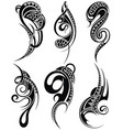 decorative set of tattoo elements vector image vector image
