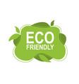 eco friendly environment design concept vector image