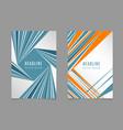 Fast speed lines business brochure flyer design vector image vector image
