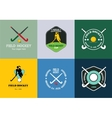 field hockey logo set sport badges vector image vector image