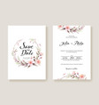 flowers wedding invitation card template vector image