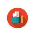 folder profit arrow economy business strategy icon vector image