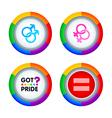 Gay pride badges vector image vector image