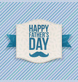 Happy Fathers Day Banner with blue Ribbon vector image