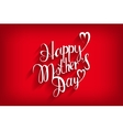 Happy Mothers Day Typographical Design Card vector image