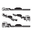 heavy duty truck transports cargo vector image vector image