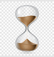 hourglass sandglass realistic isolated 3d vector image
