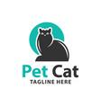 human pet cat logo vector image