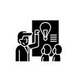 idea presentation black icon sign on vector image