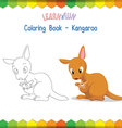 Kangaroo coloring book educational game vector image vector image