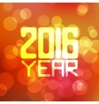 label for the new 2016 blurred red vector image vector image
