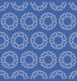 lace texture circle seamless pattern vector image