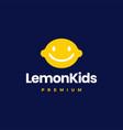 lemon kids child logo icon vector image
