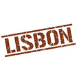 Lisbon brown square stamp vector image vector image