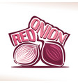 logo for fresh red onion vector image vector image
