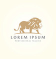 luxury lion graphic logo template with golden vector image vector image
