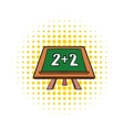 Math simple equation on chalk board icon vector image