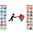Medical Shopping Icon vector image